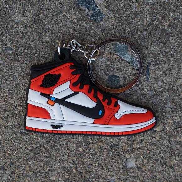 off white sneaker keychain